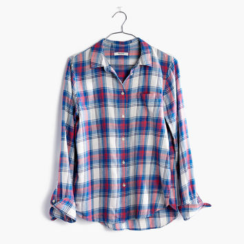 Shrunken Ex-Boyfriend Shirt in Costello Plaid