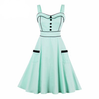 Strap Green Summer Dress