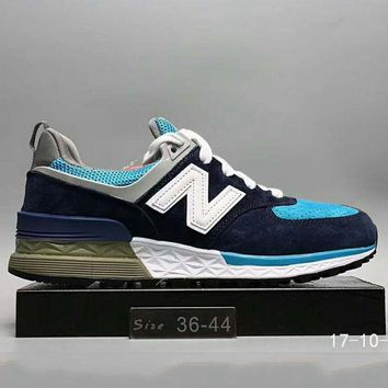 ONETOW new balance fashion casual all match n words breathable couple sneakers shoes blue g a0 hxydxpf