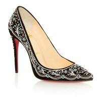 M'O Exclusive: Embroidered Pigalle Pump | Moda Operandi