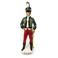 Liquore Galliano Decanter  Bottle Irish Soldier Bottle, US Army Open Mess Militaria