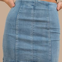 Harper Fitted Denim Skirt