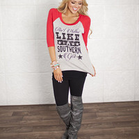 Ain't Nothin Like a Southern Girl Top Red