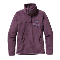 Patagonia Women's Re-Tool Snap-T® Fleece Pullover | Tyrian Purple - Tyrian Purple X-Dye