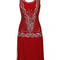 Zelda Flapper Dress Red - New In