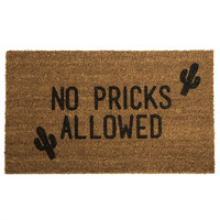 No Pricks Allowed Doormat