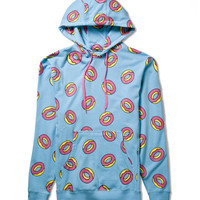 Light Blue All Over Donut Hoodie
