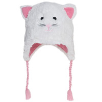Cat Toddler Fuzzy Fleece Hat