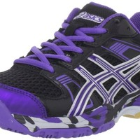 ASICS Women's 1140 V Volleyball Shoe,Black/Grape/Silver,8.5 M US