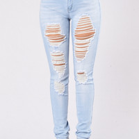 Boulevard Queen Jeans - Light Blue