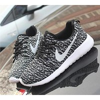 NIKE ROCHE YEEZY Fashion Running Sport Casual Shoes Sneakers Black