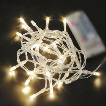 10/20/30/40 AA Battery Operated LED String Lights for Xmas Garland Party Wedding Decoration Christmas Gift Flasher Fairy Lights