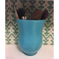 Blue Glitter Makeup Brush Holder
