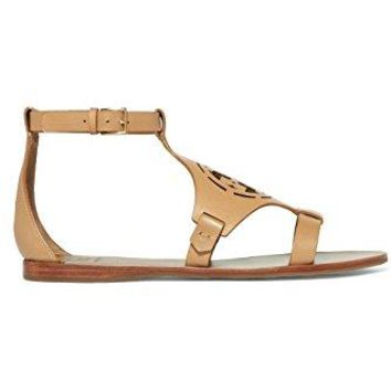 Tory Burch Zoey 10MM Leather Sandal (Sand)
