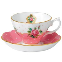 New Country Roses Cheeky Pink Boxed Cup and Saucer