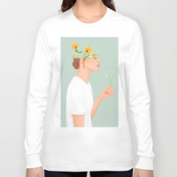Flower Head Long Sleeve T-shirt by marylobs