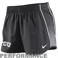 Nike TCU Horned Frogs Ladies Stealth Pacer Performance Shorts - Charcoal