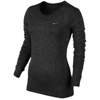 Nike Dri-FIT Knit Long Sleeve Top - Women's at Lady Foot Locker