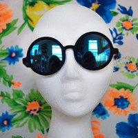Oversized Round Sunglasses Hippie Circle Revo Mirror Glasses - Dandy