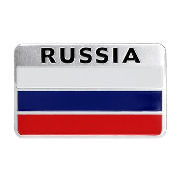 Car Stickers and Decals Window Door Decoration Auto Sticker Durable to Heat and Sunlight Car Styling 3D Russian Flag Pattern
