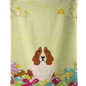 Easter Eggs Basset Hound Kitchen Towel BB6021KTWL