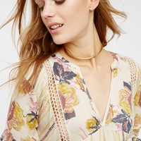 Free People Just The Two Of Us Mixed Printed Tunic