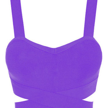 Purple Criss Cross Bustier Top