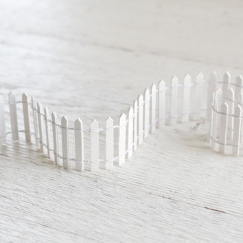 Fairy Garden Fence - Miniature White Picket Fence