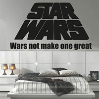 Wall Decals Quote Yoda Wars not make Star Wars Decal Vinyl Sticker Home Decor Interior Design Nursery Baby Room Living-room Art Murals Ms714