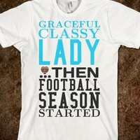 FOOTBALL SEASON STARTED TEE T SHIRT