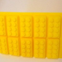 Building Brick Ice Cube Tray or Candy Mold with FREE Lego Ninjago Sticker!
