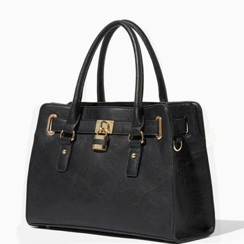 Lady Lockbox Satchel Fashion Handbags Charming Charlie