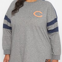 Plus Chicago Bears Athletic Striped Sweatshirt | Plus NFL Sweatshirts & Hoodies | rue21