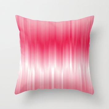 Dip Dye: Raspberry Creamsicle Throw Pillow by Kat Mun