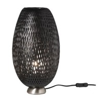 BÖJA Table lamp - nickel plated/black - IKEA