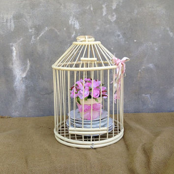 Decorative Bird Cage - Birdcage - Shabby Chic Decor - Vintage - Wedding Card Holder - Cottage CHIC