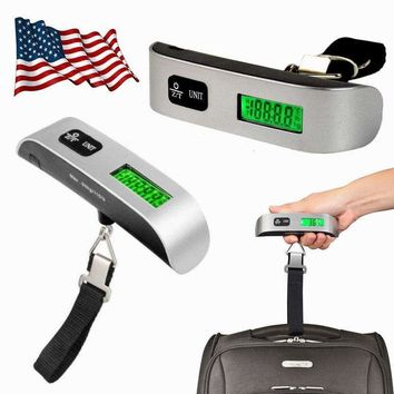 110lb/50kg Luggage Scale Digital LCD Portable Travel Weight Scale Hand-grip USA