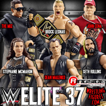 WWE Elite 37 - Complete Set of 6 WWE Toy Wrestling Action Figures by Mattel