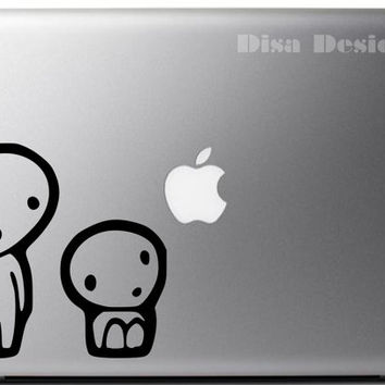 Princess Mononoke inspired Kodama Tree Spirits vinyl decal - Macbook decal - Car decal - Notebook decal - Anime decal - Tree Spirit decal