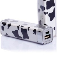 Cow Cow Pattern 2500mah Power Charger Battery Bank for Digital Devices