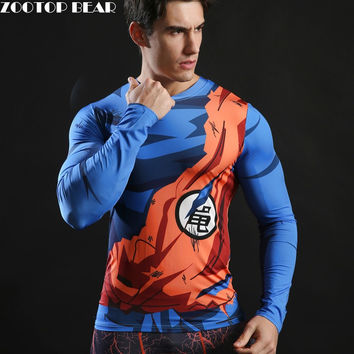Dragonball Z Mens Long Sleeve Shirt