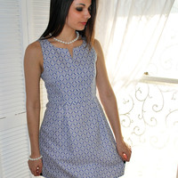 A Lot of Charm Fit & Flare Dress - Blue