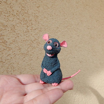 Ratatouille 'Remy', Remy the rat, Disney Animals Collection Remy from Disney's Ratatouille, Remy rat chefs,  Remy chief-cooker, disney mouse