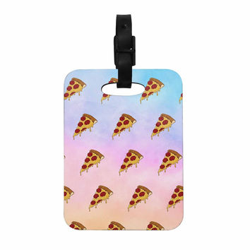 """Juan Paolo """"Lucid Pizza"""" Food Pattern Decorative Luggage Tag"""