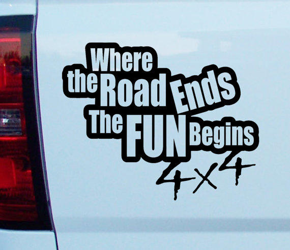 Where the road ends the fun begins 4x4 off road license plate frame holder