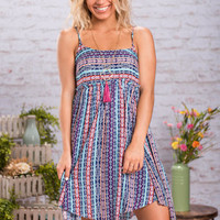 A Walk On Coco Beach Dress, Navy