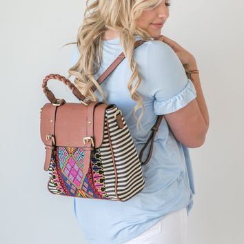 Striped Aztec Backpack - Last One!