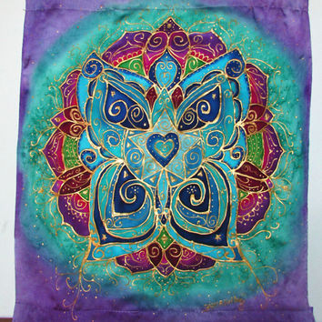 "mandala, ""Metamorphosis of the Heart"", butterfly art, mandala art, spiritual art, meditation art, sacred space, yoga art"