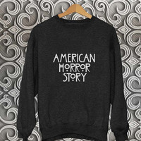 american horror story logo sweater Black Sweatshirt Crewneck Men or Women Unisex Size
