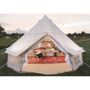 5m Waterproof Cabin Tents For Family Camping